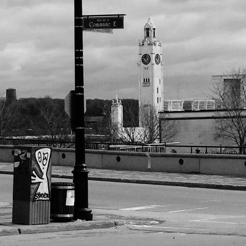 Tour De L'Horloge Streetart Blackandwhite
