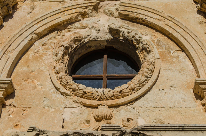 Architectural detail of Arkadi monastery Architecture Arkadi Monastery Historical Building Monastery Rethimnon Arch Architecture Arkadi Building Exterior Built Structure Close-up Crete Day Greece Historic Low Angle View Monument No People Outdoors Religion Window