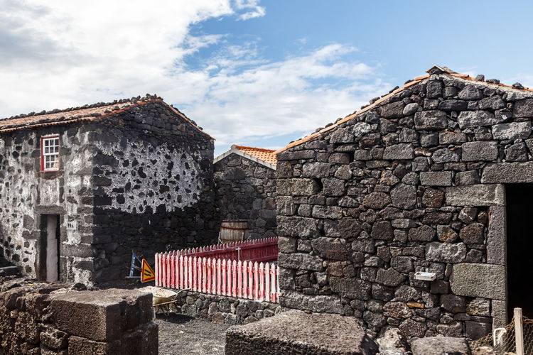 Azores Pico Island Traditional House Ancient Civilization Architecture Basaltic Rock Brick Building Building Exterior Built Structure Cloud - Sky Day Decline History House Nature No People Old Outdoors Ruined Run-down Sky Stone Wall The Past Wall