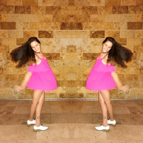 Pink Color Two People Long Hair Only Women People Human Body Part Young Adult Colorful Cool Fashion Sofitel Party Dance Dress Night Me Woman