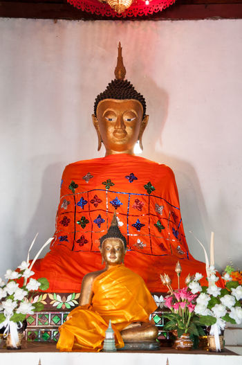 Cultures Day Gold Gold Colored Idol Laungpor Aunmuang No People Place Of Worship Religion Robe Spirituality Statue