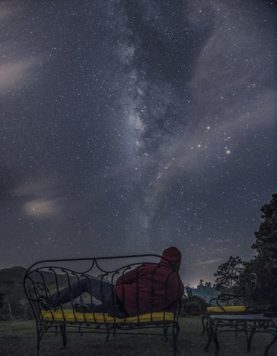 Lost In The Landscape Astronomy Beauty In Nature Constellation Galaxy Milky Way Nature Night No People Outdoors Scenics Sky Space Star - Space Star Field Tranquility Tree Perspectives On Nature See The Light A New Perspective On Life