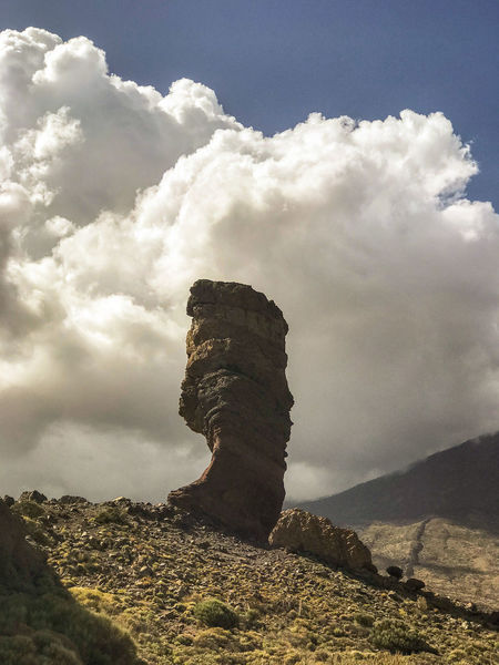 Stone. Nature Beauty In Nature Desert Desertic Stone Cloud Canary Islands Teide Mountain Sky Cloud - Sky Geology Physical Geography Eroded Rock Formation Rugged Rocky Mountains Sandstone Canyon Cave Rock Cliff Natural Arch Natural Landmark Rock Hoodoo Geyser EyeEmNewHere