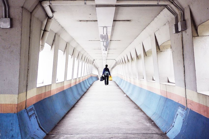 Bridge Architecture The Way Forward Kln Bay Pink Blue Central Explorehk The Graphic City Colour Your Horizn The Architect - 2018 EyeEm Awards The Street Photographer - 2018 EyeEm Awards