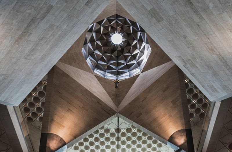 Islamic Art Design Architecture Built Structure Indoors  Low Angle View Pattern Design Ceiling Shape Geometric Shape History Building Travel Destinations