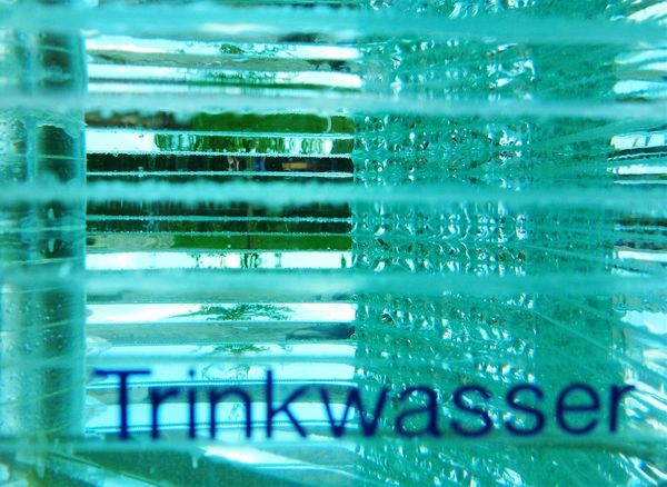 Glasskulptur im Park der Gärten Bad Zwischenahn Glass - Material Glass Art Glasses Glass Objects  Watercolour Colours Of Water Abstract Abstract Photography Fine Art Photography Fine Art Taking Photos From My Point Of View View Through Glass Pivotal Ideas AI Now Typography & Design Typography