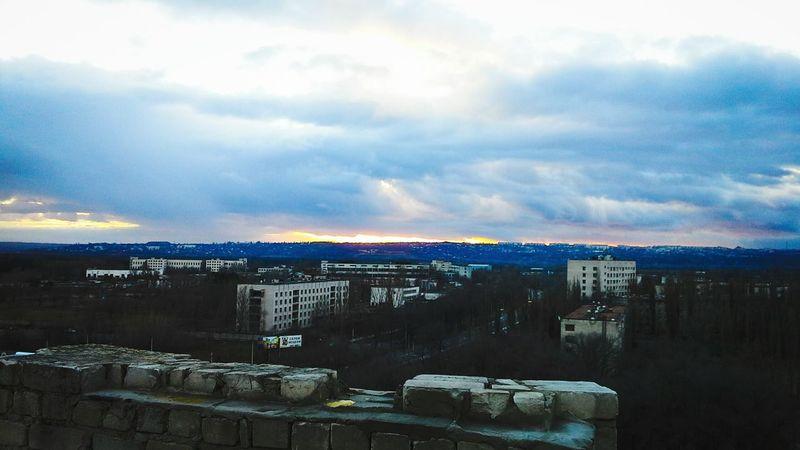 город крыша Панорама