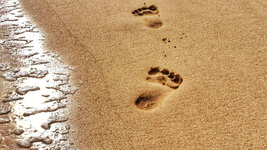 Beach Photography Beach Foodprints Sand & Sea Fußspuren Foodprints In Sand Pcean Romantic
