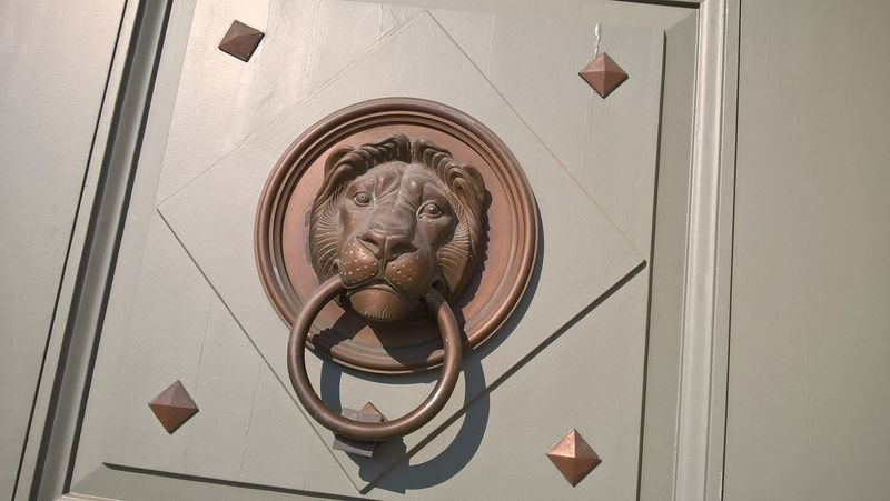 #budapest #Door #gate #lion #lumia #palace Close-up Day Indoors  Lion - Feline No People Representing Sculpture Statue