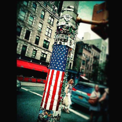 Instasize Americanflag Nycstreetart Happy4th Eastvillage NYC Streetphotography Streetcinema Streetart The Week On EyeEm