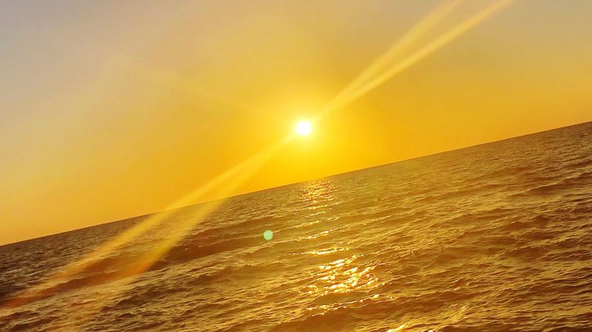 I love your rays! Sea Sunset Beauty In Nature Nature Orange Color Sun Water Scenics Sunlight Clear Sky Tranquil Scene Motion Sky Tranquility Horizon Over Water No People Wave Outdoors Day Beach