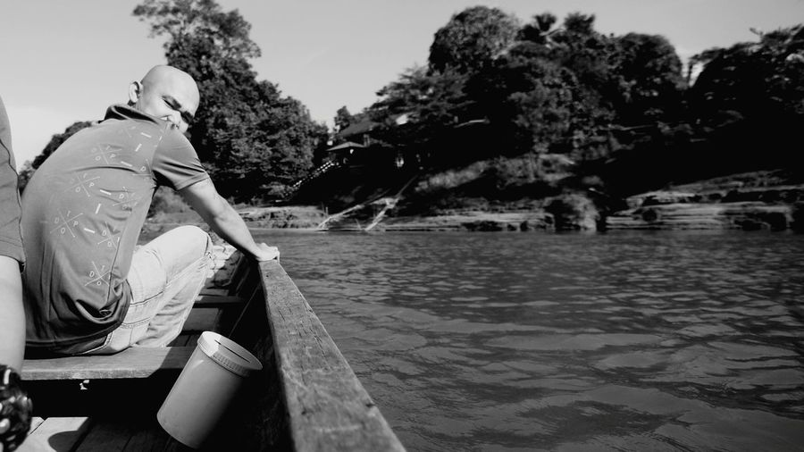 Oar Nautical Vessel Summer Nature Vacations Water Outdoors River Adult Life Jacket People Day Sky Sarawak Malaysia Riverbank Limbang Fiesta Limbang, Malaysia
