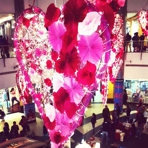 Valentines day is coming. They have decorated the mall beautifully.