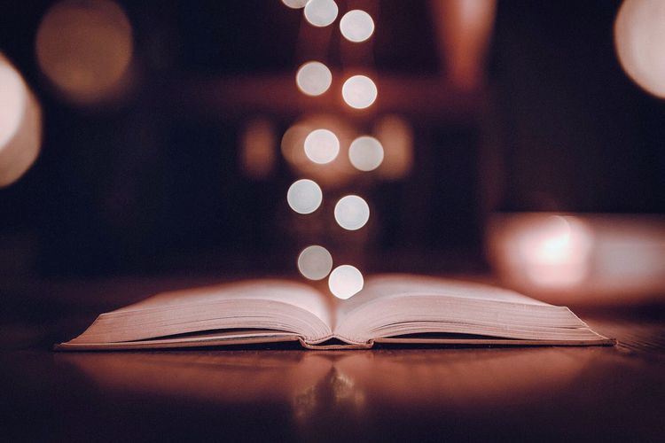 Imagination Reading Read Abstract Imagination Bokeh EyeEm Selects Book Education Page Focus On Foreground Learning Indoors  Illuminated Close-up Research Defocused Night No People