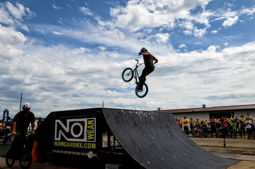 Nowear BMX Team Nebraska State Fair September 1, 2018 Grand Island, Nebraska Camera Work Check This Out EyeEm Best Shots FUJIFILM X-T1 Fujinon 10-24mm F4 Getty Images Grand Island, Nebraska Nebraska State Fair NowearBMX Photo Essay Photo Journalism Skill  Stunt Action Bicycle Bmx  Cloud - Sky Day Events Extreme Sports Eye For Photography Freestyle Fujifilm_xseries Full Length Leisure Activity Lifestyles Men Mid-air One Person Ramp Real People RISK S.ramos September 2018 Series Sign Skateboard Park Skill  Sky Sport Stunt Transportation