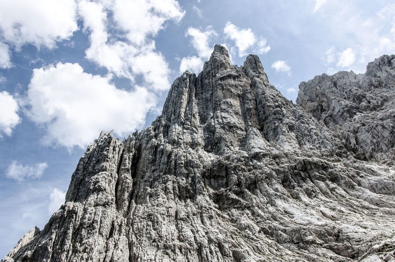 Nordkante Beauty In Nature Cloud - Sky Day Geology Low Angle View Mountain Mountaineering Nature No People Outdoors Predigtstuhl Ridge Rock Climbing Scenics Sky Textured  Wilder Kaiser