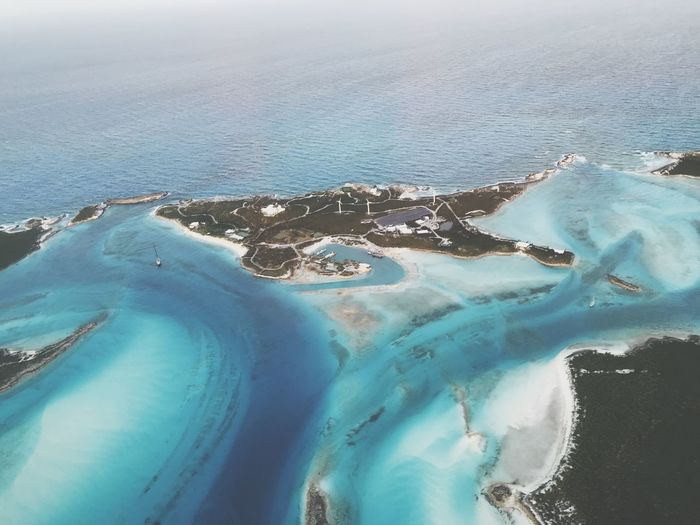 Over Yonder Cay Bahamas Sea Water Beauty In Nature Nature Scenics No People Tranquility Blue Cold Temperature Sky Beach Outdoors Tranquil Scene