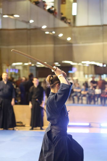 Japanese Kendo tournament EyeEmNewHere Japan Japanese Culture Japanese Old Fancing Fancing Wakizashi Katana Kendo Laido Sword Japanese Old Fancing