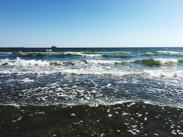 Rügen Sea Water Horizon Over Water Wave Scenics Beach Clear Sky Beauty In Nature Vacations Nature Tranquility Majestic Tourism Shore Outdoors Tide Day Non-urban Scene Seascape