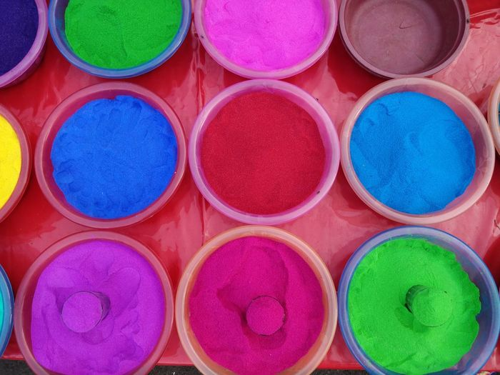 Full frame shot of multi colored market stall