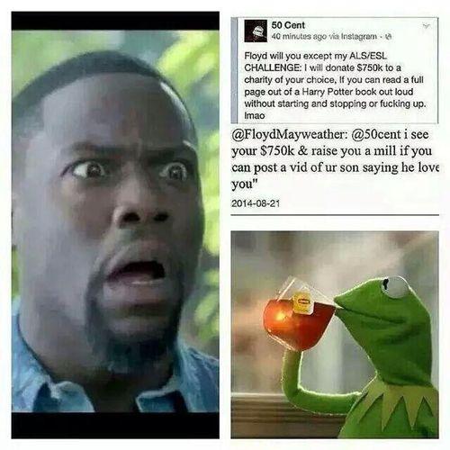 Shit getting real FloydMay hit hard on 50cent ??? NGGA Damnnn!!!