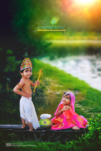 Smiling Child Happiness Beauty Young Women City Full Length Cheerful Water Childhood