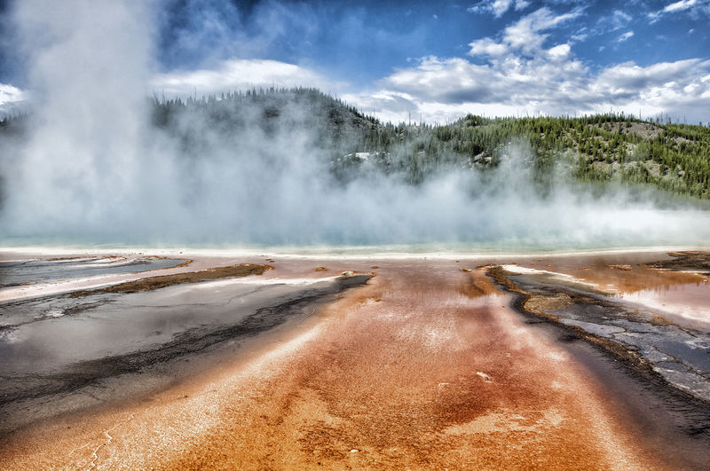 Beauty In Nature Geology Geyser Heat - Temperature Hot Spring Nature No People Tourism Tranquil Scene Tranquility Travel Destinations Water