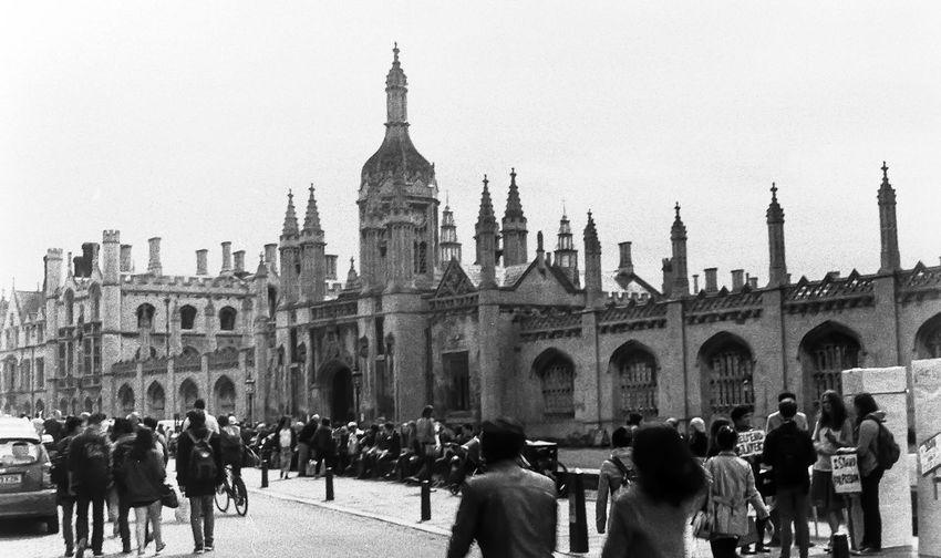 Film Photography Film Is Not Dead Film Noir EyeEmNewHere Postcode Postcards Cambridge, United Kingdom University Architecture Built Structure Building Exterior