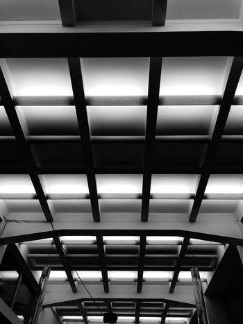 Ceiling Ceiling Minimalism_bw Contrast Bw_collection Blackandwhite Ceiling Indoors  Low Angle View Pattern Illuminated No People Architecture Architectural Design