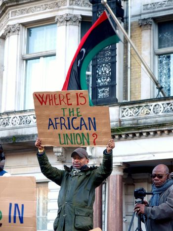 No Borders! No Slavery! Protest demanding an end to auctioning of black Africans in Libya. Following reports of people auctions in Libya. Libyan Embassy. London. UK. 26/11/2017 Protest Protestor People Slavery Zuiko LONDON❤ Stevesevilempire Steve Merrick Protesters Photojournalism London Olympus Libya London News No Borders! No Slavery! Slavery Still Exists Black Lives Matter People Auctions
