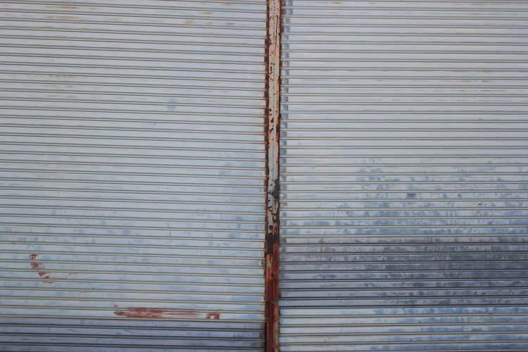 Architecture Backgrounds Built Structure Close-up Closed Corrugated Corrugated Iron Day Full Frame Garage Iron Metal No People Outdoors Pattern Protection Safety Security Shutter Textured  Wall - Building Feature Window