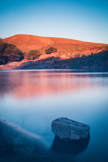 Sierra de la Ventana Water Scenics - Nature Sky Tranquility Tranquil Scene Beauty In Nature No People Nature Mountain Sea Rock Land Reflection Solid Clear Sky Day Rock - Object Landscape Outdoors River Blue