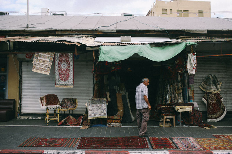Jaffa Jaffa Israel TelAviv Market Architecture Building Exterior Built Structure Casual Clothing Day Full Length Israel Lifestyles One Person Outdoors People Real People