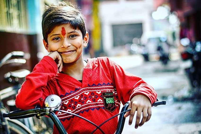 Meet Sanu A boy who loves cycling more than ne thing... Photography Indiapictures Iamnikon Iamexclusive Iamshutterbug Nikon D7200 Nikkor 50mm Red