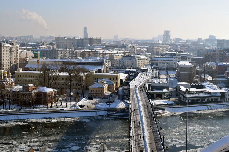 River Collection River View Riverside Walking Around Architecture Bridge Bridge - Man Made Structure Building Exterior Built Structure City Cityscape Cold Temperature Day High Angle View Nature Outdoors River Riverbank Riverside Photography Riverview Riverwalk Sky Snow Water Winter