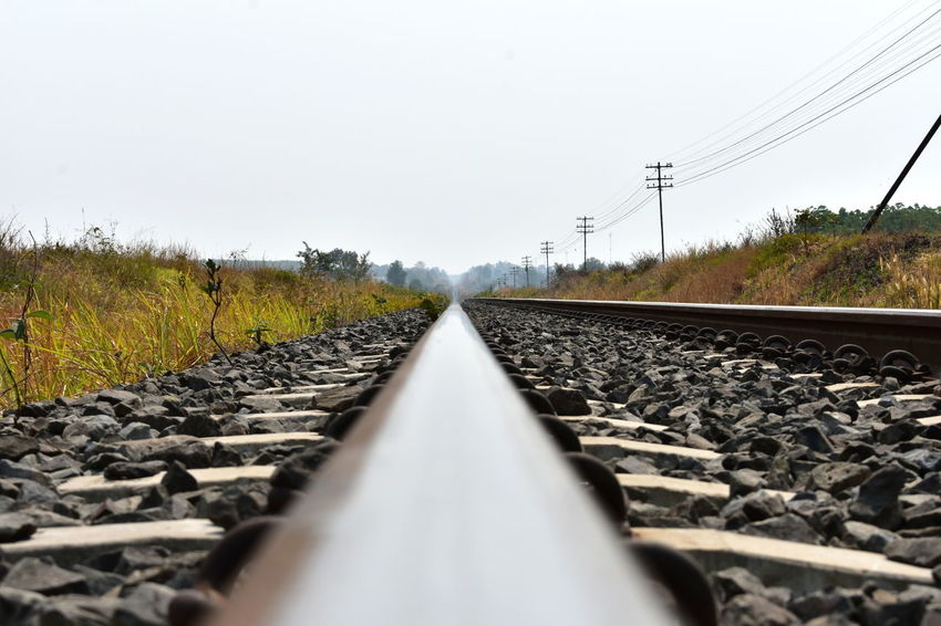 Illustrated Close Up Railway Track View Railway Lines Rail Track Railway Track Railway Track Surface View Railway Track View Straight Lines Tracks