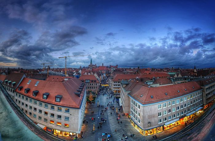 Christkindlmarkt Christkindlesmarkt Sky And Clouds Old Buildings City Cityscape City Life Beautiful Xmas Xmas Time Christmastime Chrismas Light And Shadow City Cityscape Politics And Government Illuminated Aerial View Town Sky Architecture Lightning Dramatic Sky Atmospheric Mood Moody Sky Romantic Sky Cloudscape Panoramic Residential Structure Residential District
