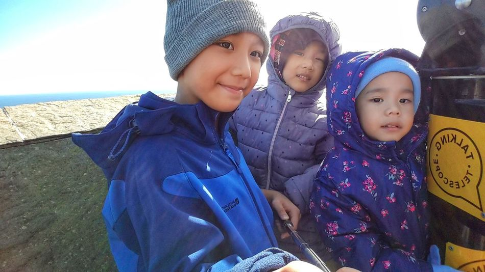 Three young kids taking selfie. Baby Childhood Togetherness Portrait Happiness Looking At Camera Smiling Babies Only Enjoyment Preschool Age Childhood Fun Real People Autumn In Ireland Warm Clothing Childhood Innocence Childhood Joy Happiness Close-up Children Only Front View Siblings Love Siblingselfie Siblings Having Fun Sibling Bond Sisterhood EyeEmNewHere Be. Ready.