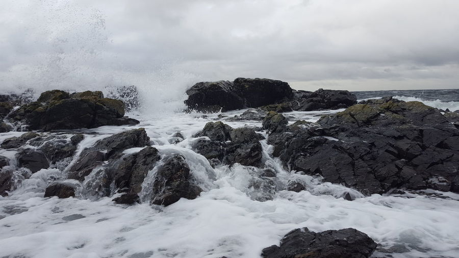 Be. Ready. The Week On EyeEm Outdoors Tranquility Backgrounds Water White Background Enjoying Life Taking Photos Cold Temperature Fragility Freshness Scenics Nature Vancouver Island Neck Point Waves Shoreline