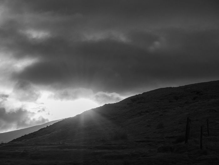 sunset at Conor Pass Ireland Kerry Penisula Clouds Skylight Cloudscapes Mountainstories Mountains Mountain_world Black White Blackandwhite Monochrome Moody Wanderfolk Wanderer Natureheals Lumix Mountain Sky Cloud - Sky Weather Dramatic Sky Overcast Atmospheric Mood Sky Only Cloudscape Cumulus