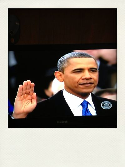 Watched my President get sworn in for the second time. #2TERMZ MY PRESIDENT IS BLACK!!!!!!