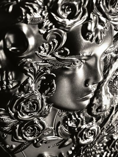 Beauty is the silver of life.. Woman Era Life Beauty In The Mid Love EyEmNewHere Close-up Black Background Galaxy