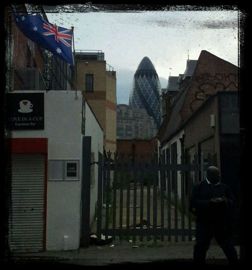 City Of London Keeping An Eye On The World At The Gate Cucumber