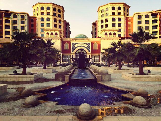 Doha Architecture Sunny Day