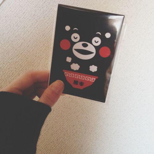 職場の人にもらった。ふだん無口な人だけに何か微笑ましい(*^^*) クマもん KUMAMON Cute Taking Photos