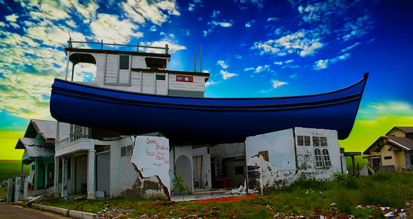 Tsunami 2004 aftermath Aceh Tsunami Disaster Tsunami Area Tsunami Sign Nature Photography Photography Landscape_photography Aceh Boats Memories History Through The Lens  EyeEm Nature Lover Sunset_collection Eyeem2018 Eyeem Memories EyeEmBestPics EyeEm Gallery Nature_collection Nautical Vessel Blue Sky Architecture Landscape Grass Building Exterior Cloud - Sky