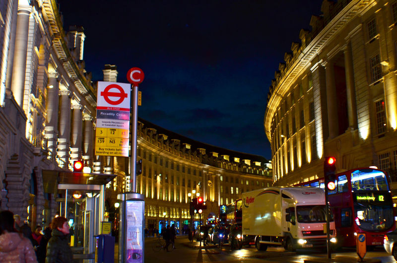 EyeEm LOST IN London Architecture Building Exterior Built Structure City Illuminated Large Group Of People Neon Night Outdoors People Sky