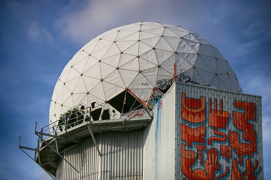 NSA-Listeningstation at the Teufelsberg in Berlin Abhörstation Teufelsberg NSA Station Berlin Teufelsberg Berliner Ansichten Berlin Photography Business Finance And Industry Dome City Architecture Sky Built Structure Radar