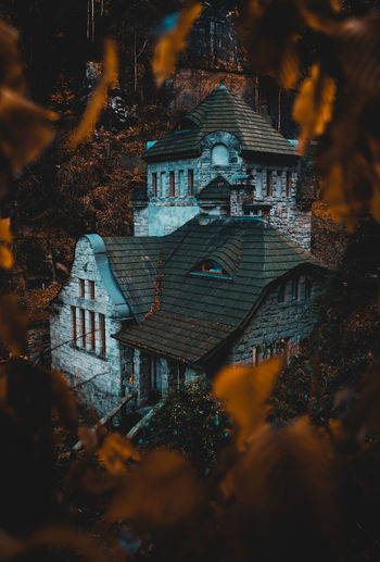 Roamtheplanet Moody Travel Destinations Forest House Autumn Outdoors Place Of Worship Land Selective Focus High Angle View Focus On Background Tree Built Structure Architecture Nature Building Building Exterior No People Plant EyeEm Nature Lover Eyeem Architecture EyeEmNewHere EyeEm Travel Photography EyeEm Best Edits
