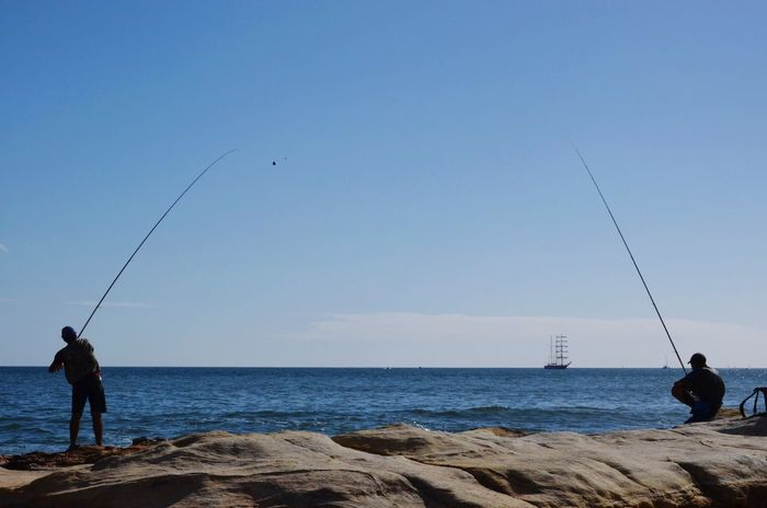 Pêcheur Peche Fishing Sea Portugal